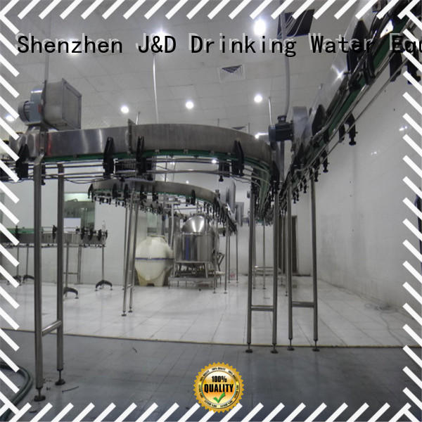 filling bottle J&D WATER Brand air conveyors