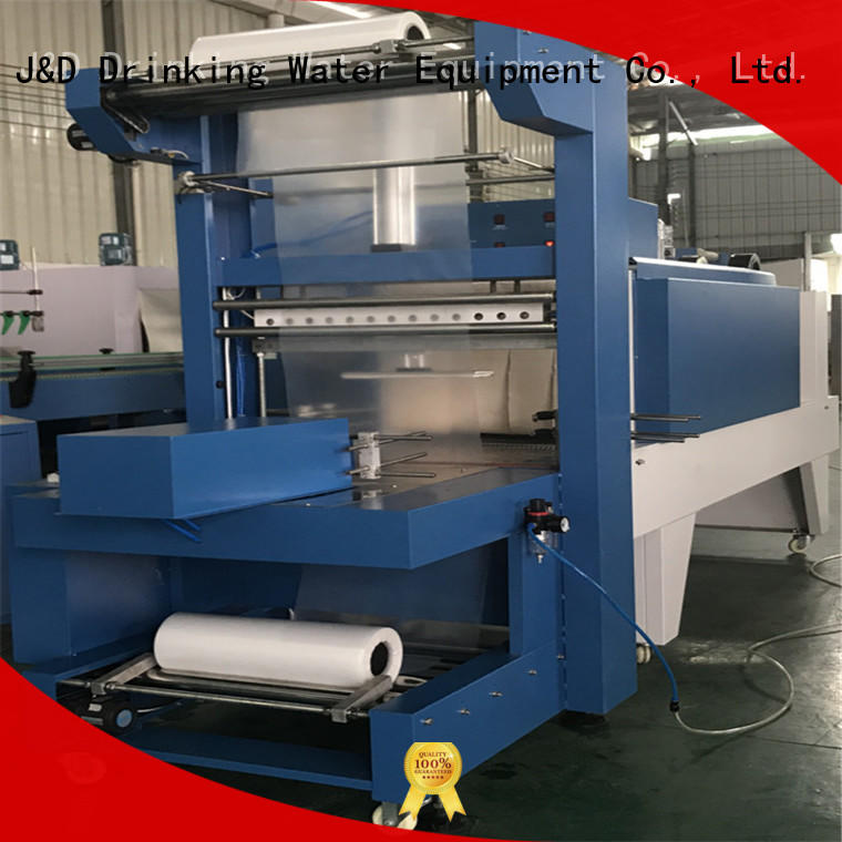 shrink wrap machines for sale automatic J&D WATER Brand shrink packing machine