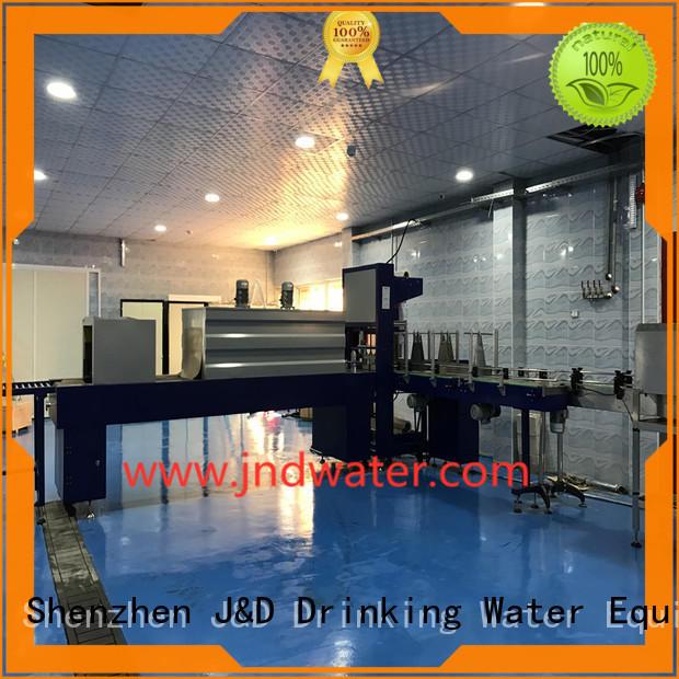 машины для упаковки в термоусадочную пленку для продажи полуавтоматическая упаковочная машина J & D WATER