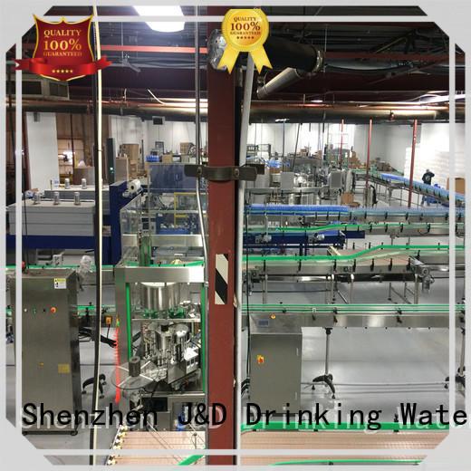 J&D WATER belt chain conveyor high efficiency for drinking water