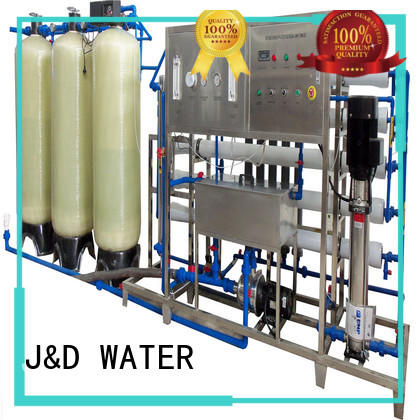 J&D WATER osmosis machine with Glass Tank for drinking water for treatment