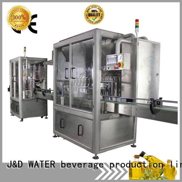 J&D WATER bottling machine complete function for oil