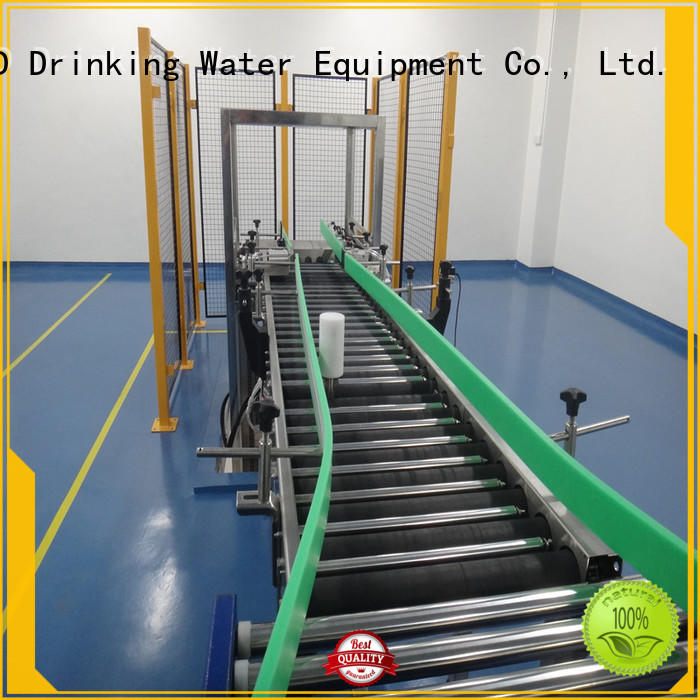 J&D WATER easy transport roller conveyor industrial for drinking