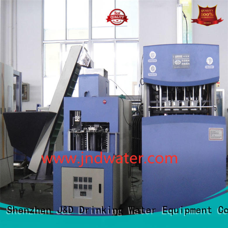 J&D WATER Brand semiauto reheat stretch custom plastic blow moulding machine