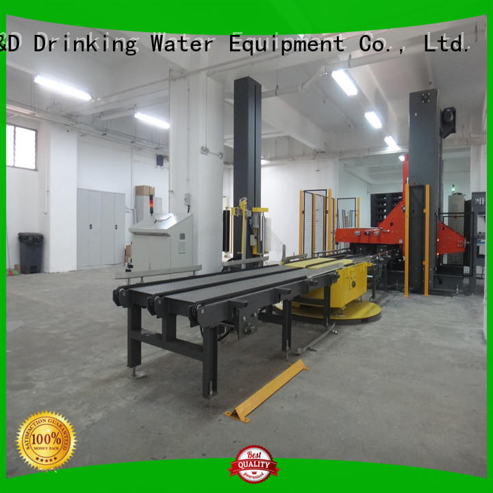 prestretch pallet wrapping machine precise control for beverage J&D WATER