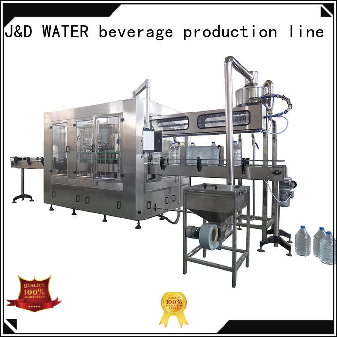 J&D WATER filling capping machine stainless steel for PET