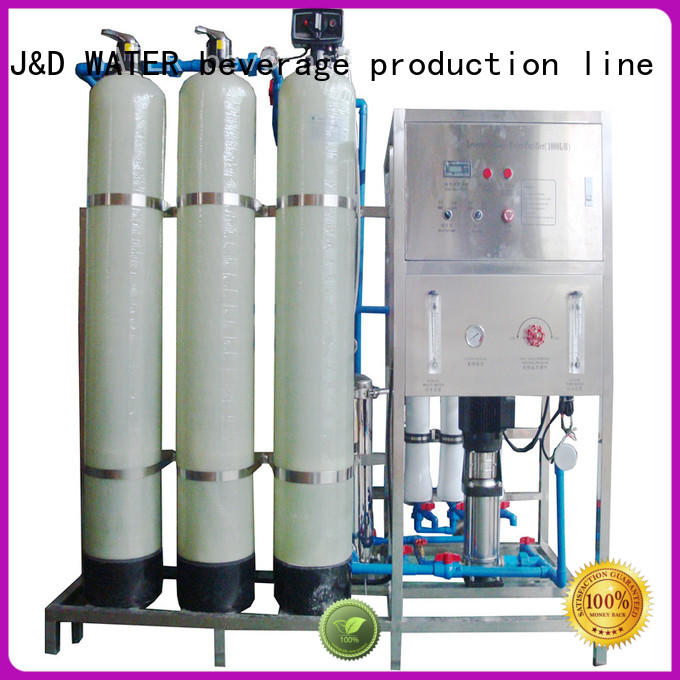 J&D WATER standrad commercial reverse osmosis system with Glass Tank for drinking water for treatment