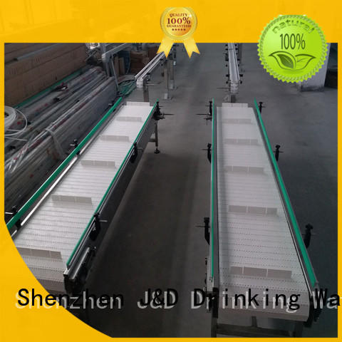 conveniently slat chain conveyor stainless steel for drinking water J&D WATER