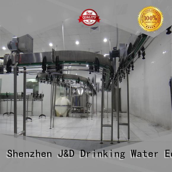 J&D WATER conveniently bottle conveyor high efficiency for beverage,
