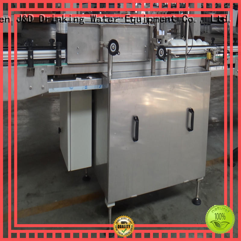 J&D WATER semi automatic labeling machine intellectual control for glass bottle