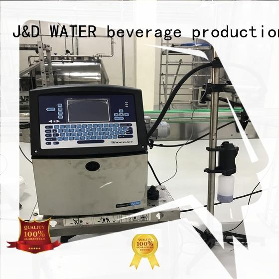 J&D WATER stable inkjet date coder machine high quality for plastics