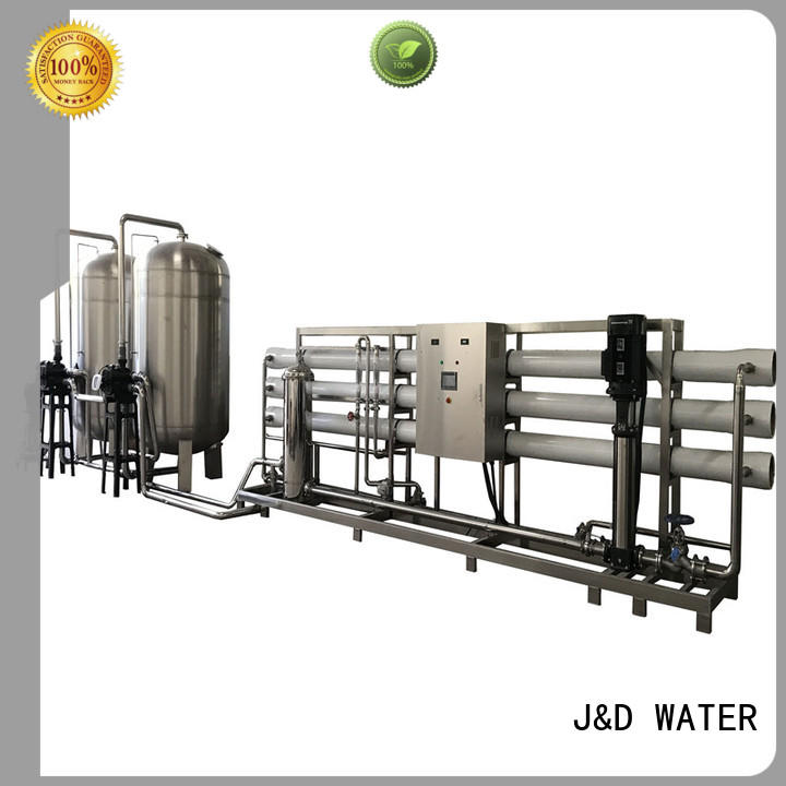 J&D WATER standrad osmosis machine with Glass Tank for industrial waste treatment