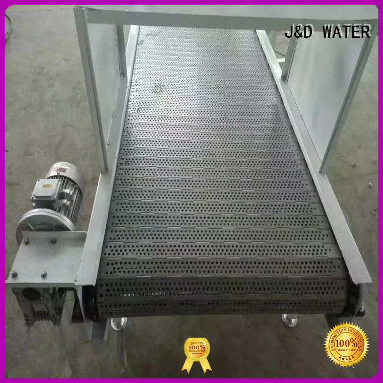 J&D WATER high quality chain conveyor stability for beverage,