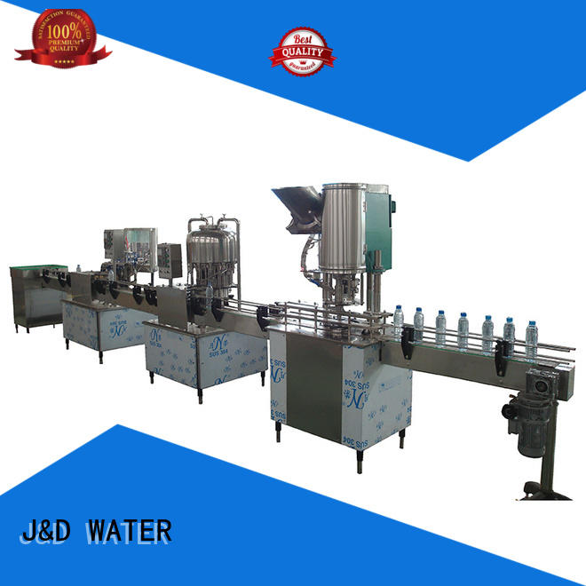 J&D WATER water bottling equipment high accuracy for Glass bottles