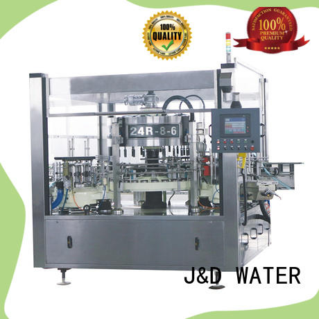 J&D WATER semi automatic labeling machine quickly for glass bottle