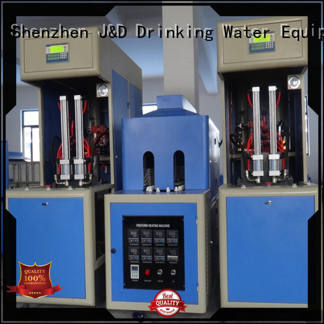 J&D WATER Brand semiauto stretch automatic blow moulding machine molding factory