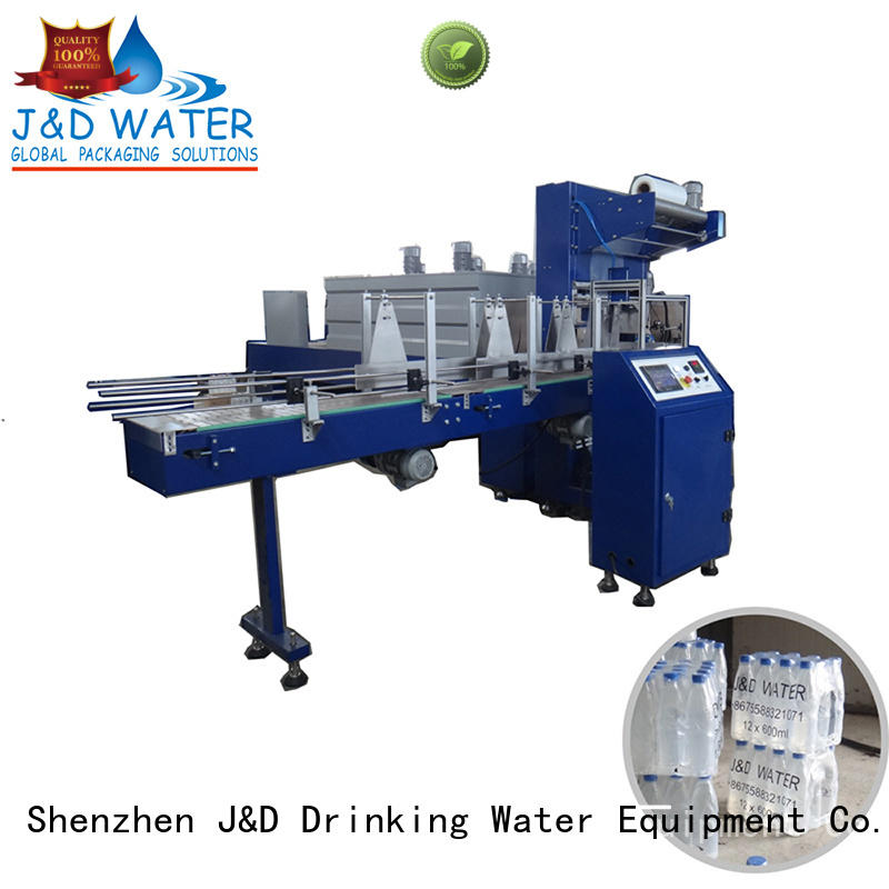 J&D WATER convenient shrink packing machine precise control for beverage