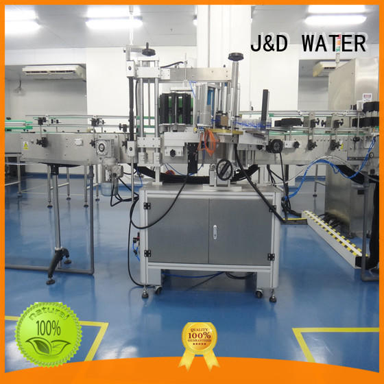 J&D WATER anti-rust automatic sticker labeling machine convenient for plastic bottle