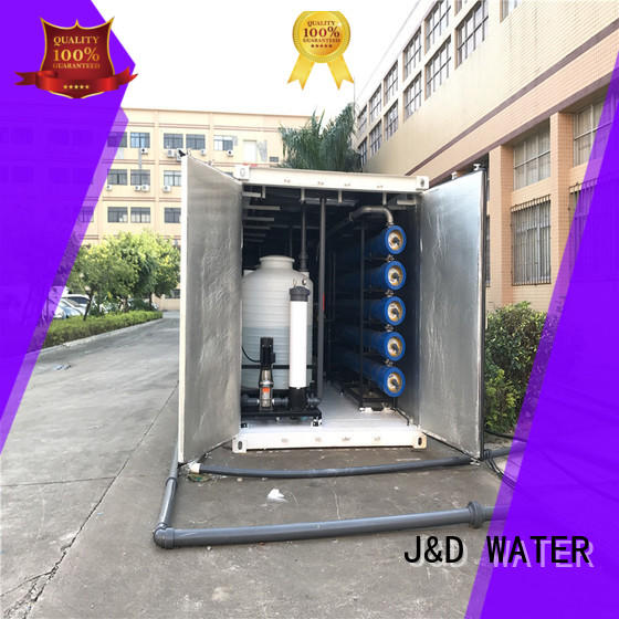 J&D WATER standard sea water purifier high purity for sea shore cities