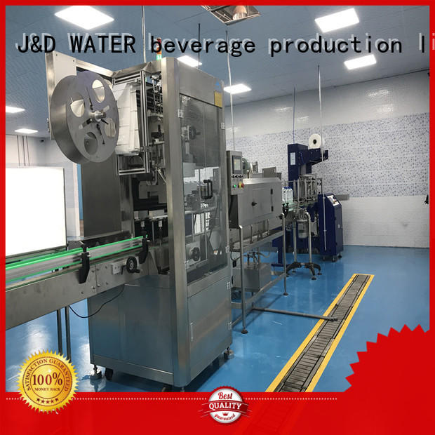 J&D WATER fast sleeve labeling machine quickly for metal container
