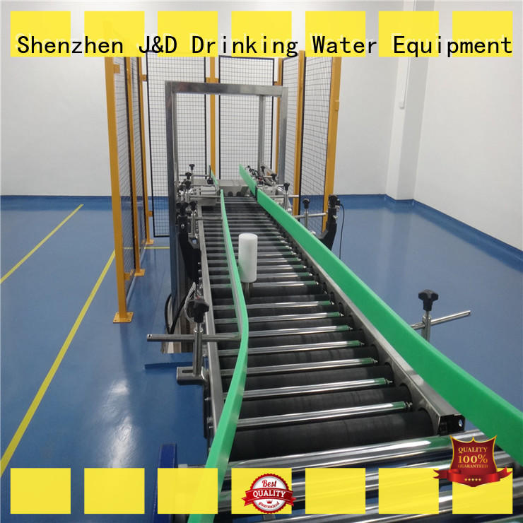 gravity conveyor steel for drinking J&D WATER