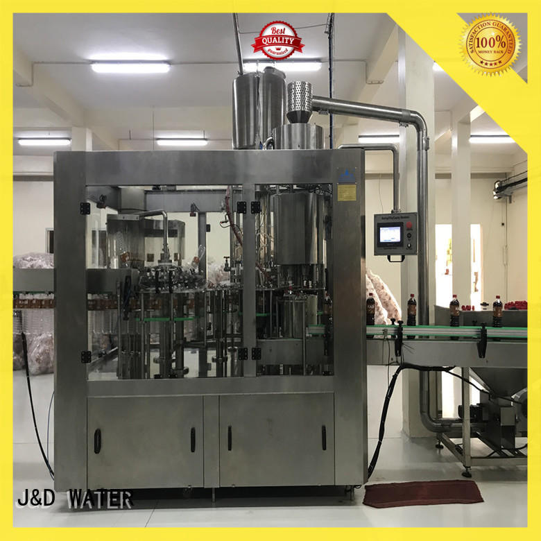 J&D WATER plastic bottle sealing machine stainless steel for sauce