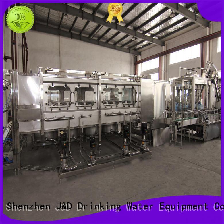 filling bottling equipment engineering Glass bottles J&D WATER