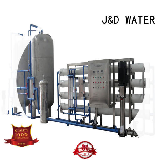 J&D WATER standrad commercial reverse osmosis system with Glass Tank for industrial waste treatment