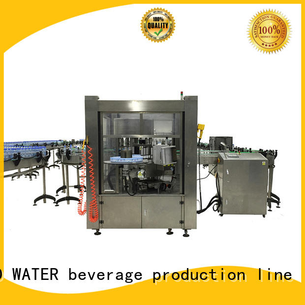 J&D WATER semi automatic bottle labeling machine standard for label papers