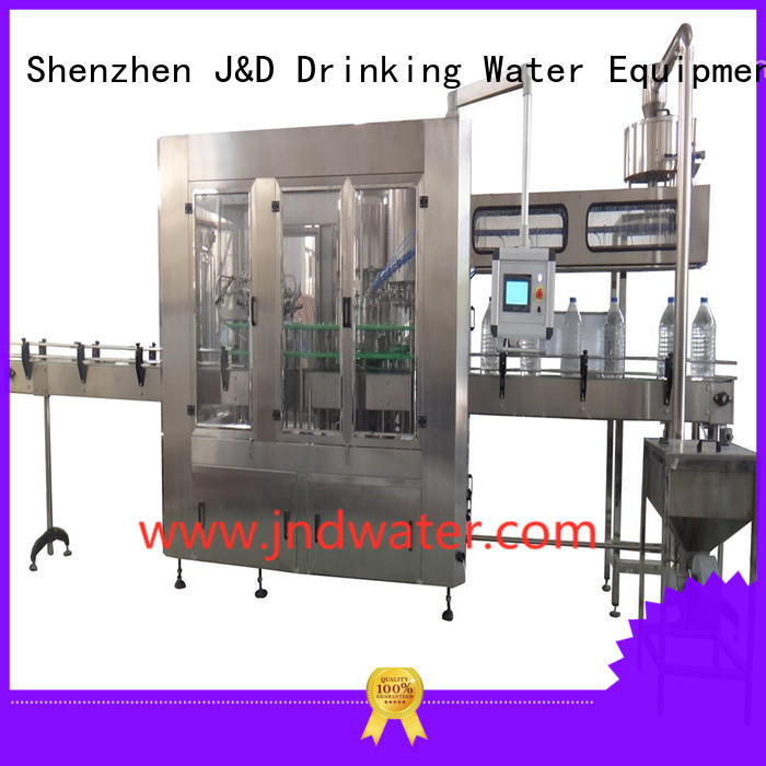 J&D WATER Brand capping wine bottle filler machine bottle supplier