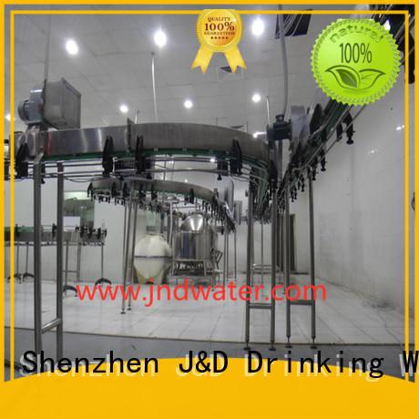 J & D WATER Бренд розлива бутылочных воздушных конвейеров завод