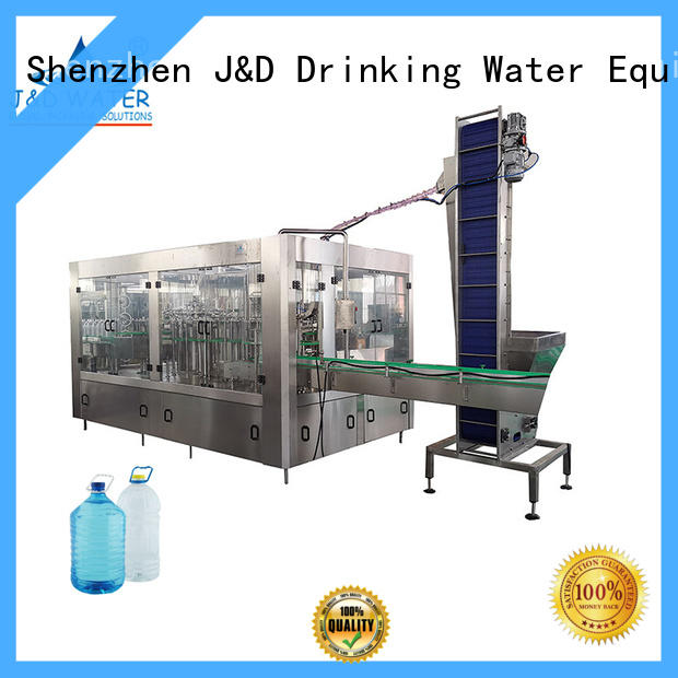 J&D WATER intelligent filling capping machine engineering for pure water