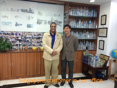 JD WATER-Singapore Customer In Our Office | News On Jd Water Beverage