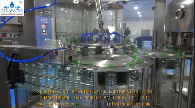 JNDWATER Water Washing Filling Capping Machine work vedio.-J&D WATER