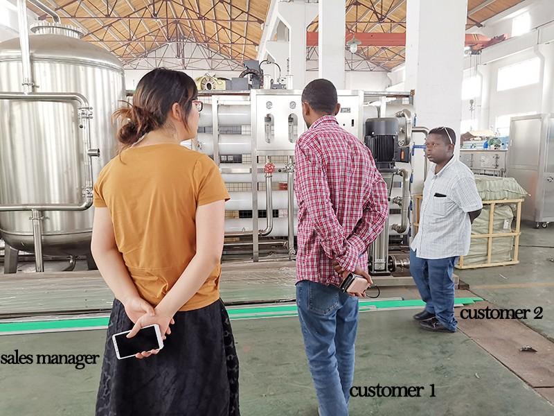JD WATER-Customers Visit Jndwater Factory-1