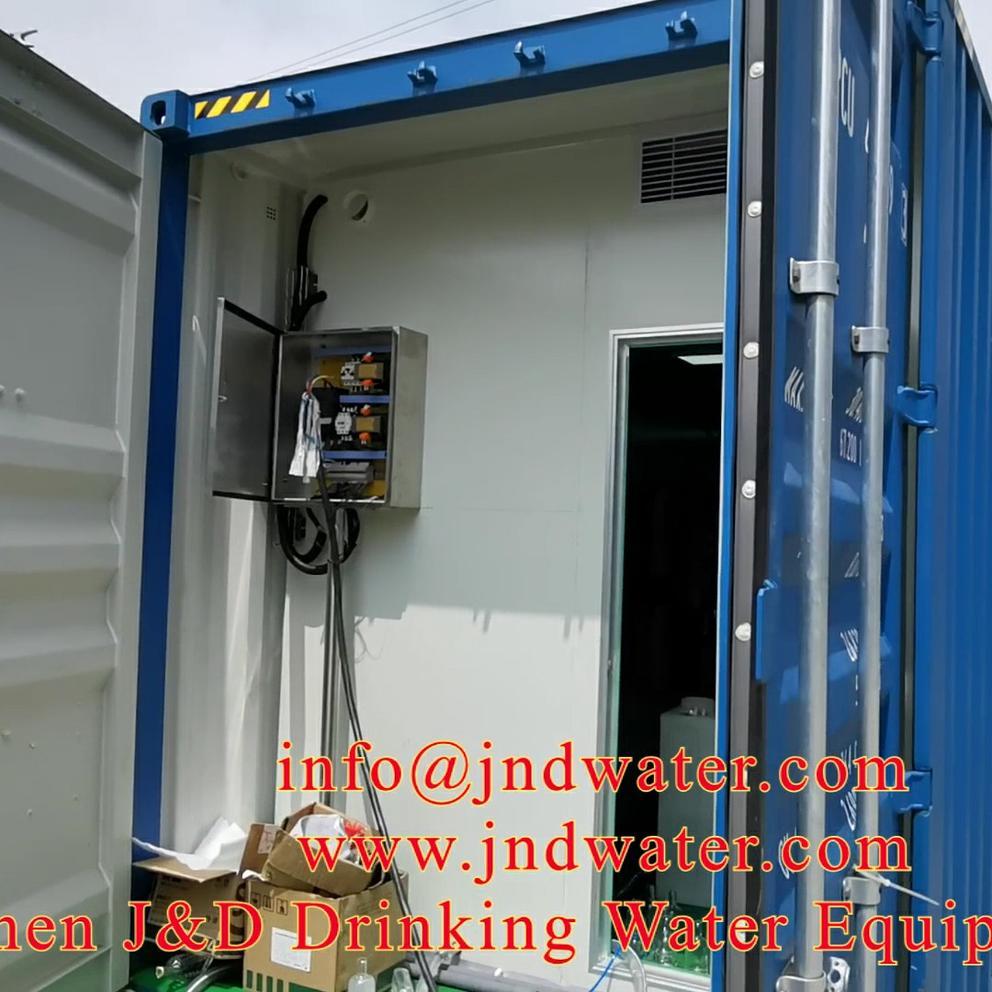 صغيرة زجاجة المياه ملء آلة مصنع في الحاويات