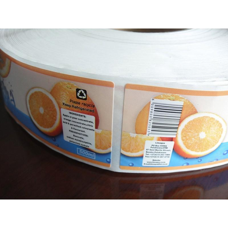J&D WATER self adhesive sticker label