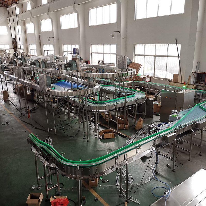 Latest status of mineral water filling production line installation-J&D WATER