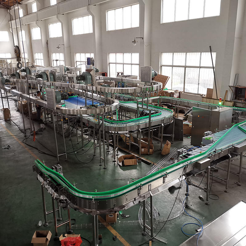 Latest status of mineral water filling production line installation