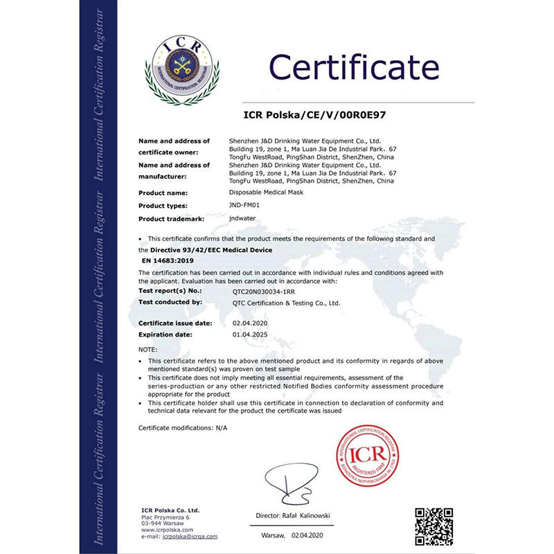 Protective Mask CE Certification