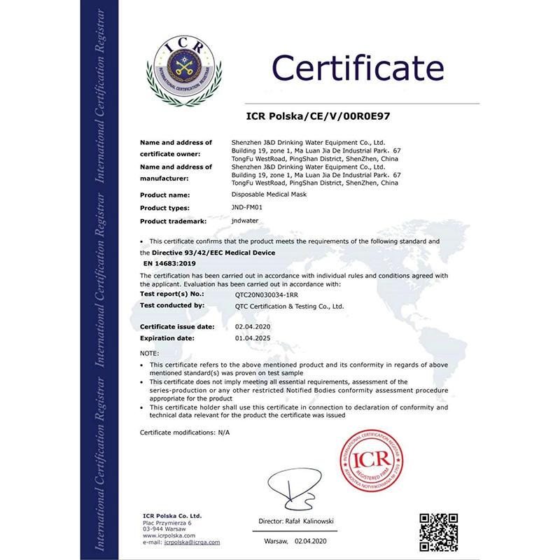 Защитная маска CE сертификация