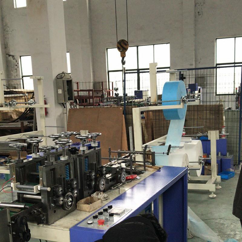 Semi-automatic Disposable Protective Mask  Making Machine
