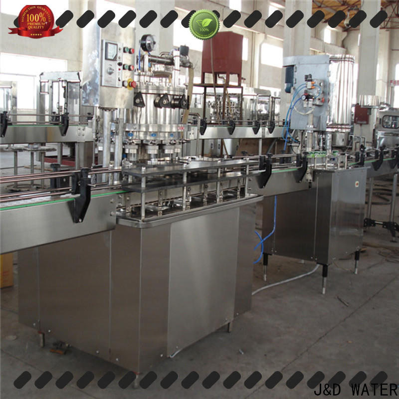 J&D WATER easy operation can sealing machine high accuracy for PET plastic
