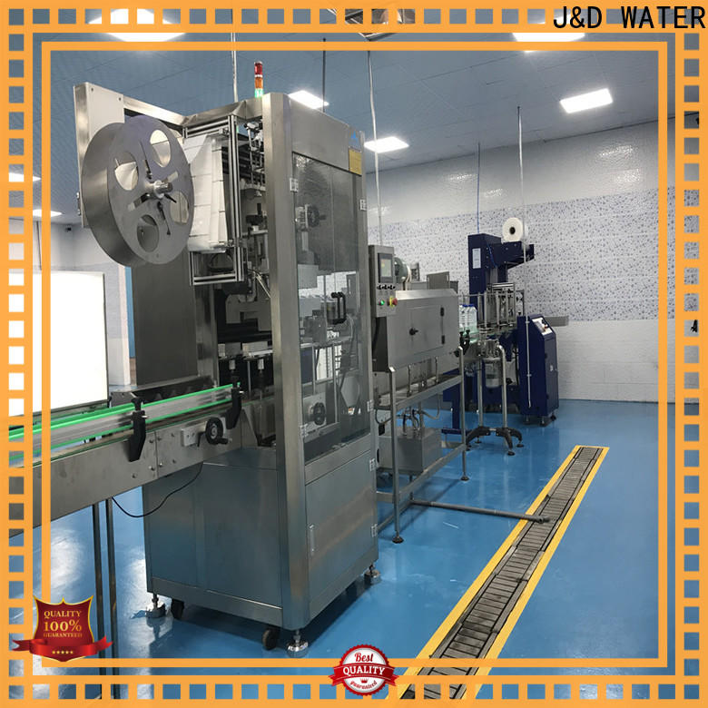 J&D WATER stainless steel automatic labeling machine standard for glass bottle
