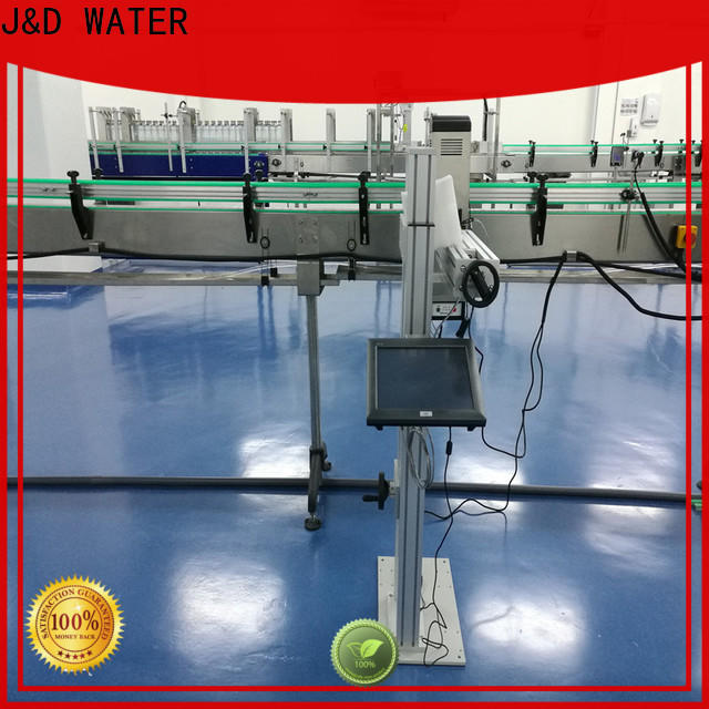 J&D WATER fiber laser marking machine high-definition screen for cardboard