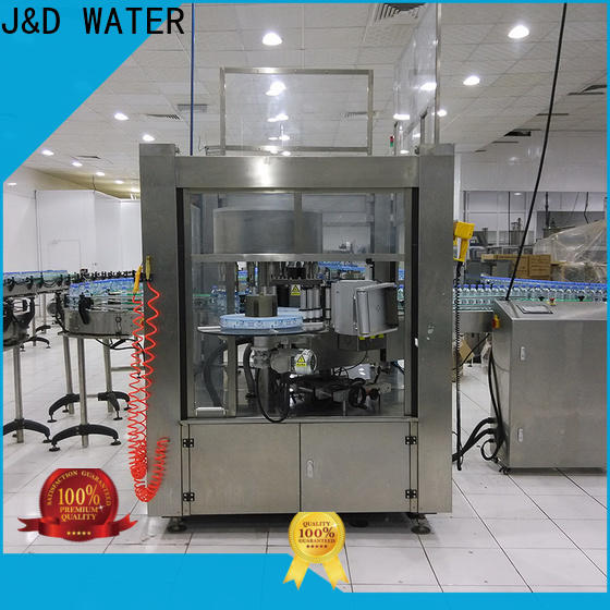 J&D WATER water bottle labeling machine quickly for film lables