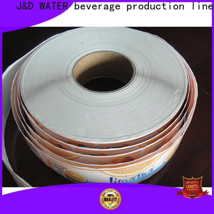 J&D WATER custom sticker label good quality intelligent