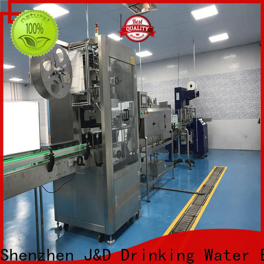 J&D WATER Automatic sleeve labeling machine quickly for plastic bottle