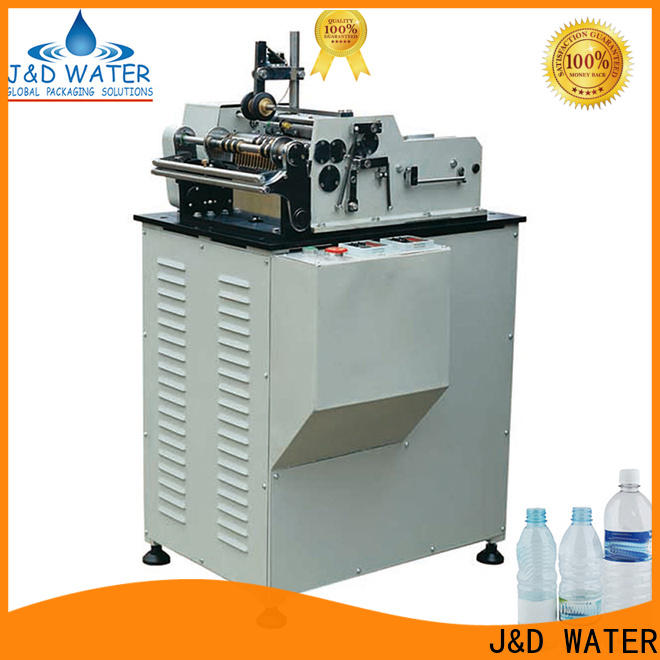 J&D WATER square bottle labeling machine quickly for film lables