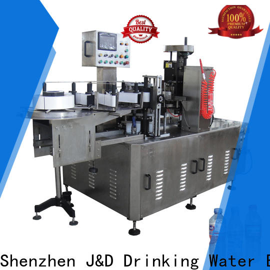 J&D WATER round bottle labeling machine adjustable for film lables